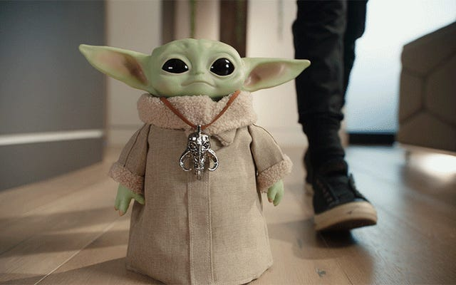 This RC Baby Yoda Waddles Around Your House Like a 50-Year-Old Toddler