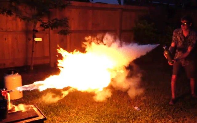火炎放射器をフリーズレイで爆破するとどうなるか
