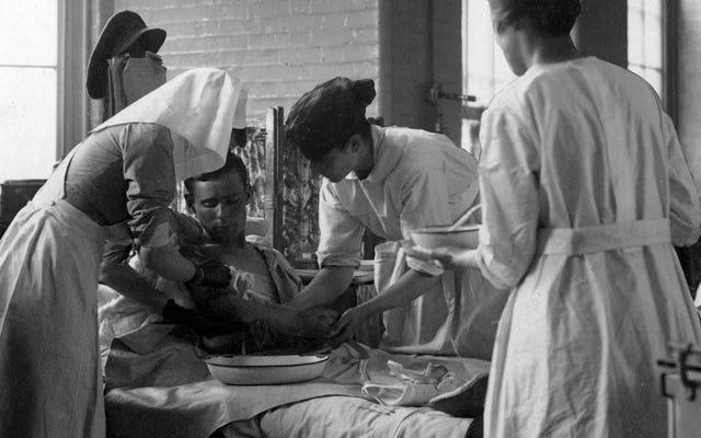 Dentro del hospital de la Primera Guerra Mundial dirigido y atendido por mujeres