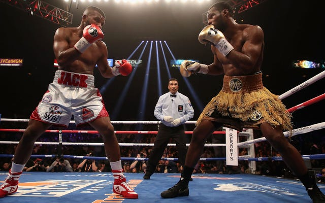 Le boxeur Badou Jack a subi une blessure au visage vraiment horrible [Graphique]