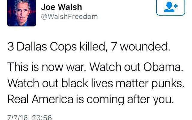 Eski Hasta Temsilcisi Joe Walsh Twitter'da Başkan Obama'nın Hayatını Tehdit Etti mi?