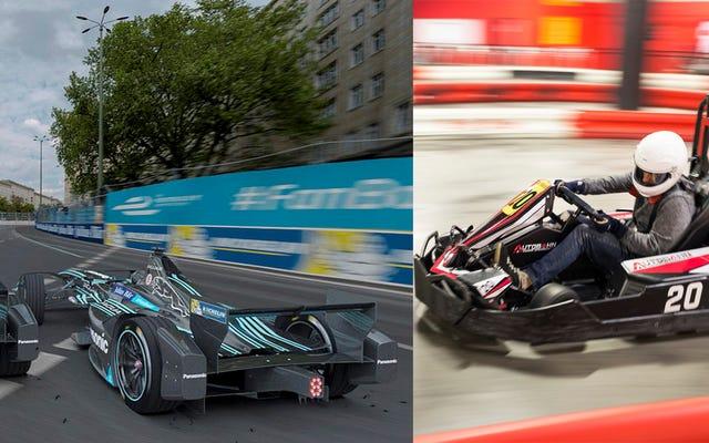 あなたはジャガーフォーミュラEレーサーよりも速いですか?ニューヨークで私たちとレースに来てください!