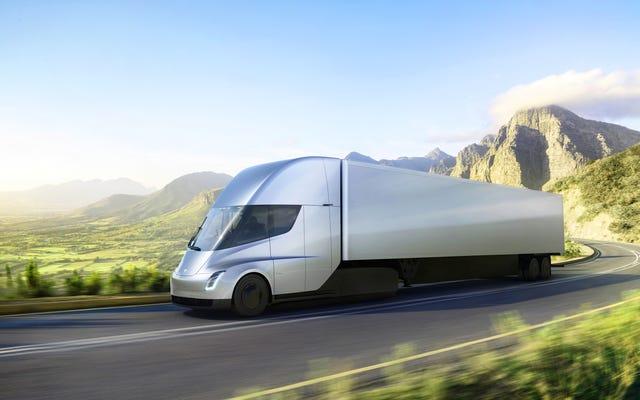 El semirremolque Tesla funcionará de 0 a 60 en 5 segundos con un alcance de 500 millas