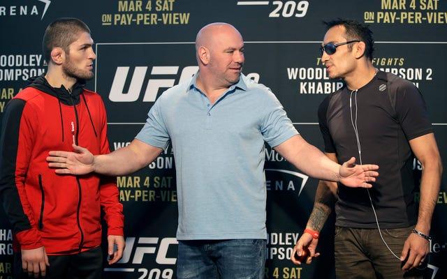 UFC 209 की सर्वश्रेष्ठ लड़ाई खबीब नूरमगोमेदोव के रहस्यमय तरीके से अस्पताल में भर्ती होने के कारण पटरी से उतर गई
