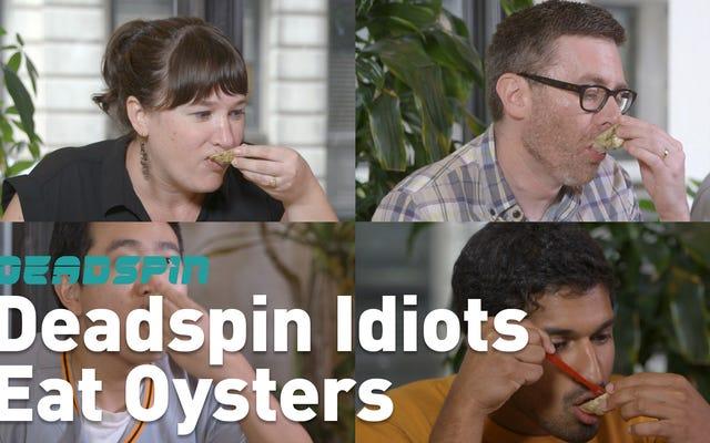Gli idioti di Deadspin mangiano un sacco di ostriche