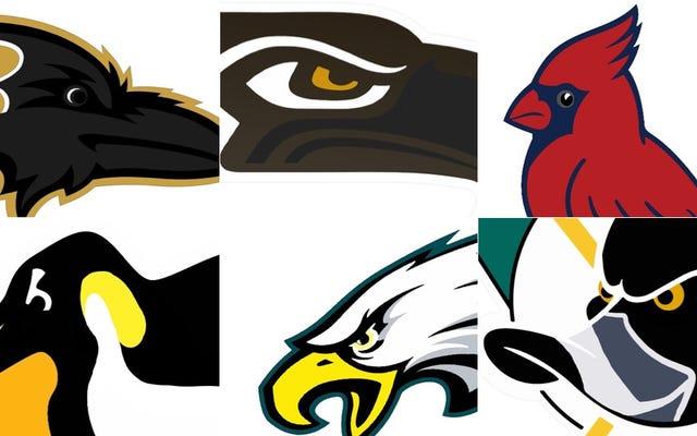 Risolviamo tutti i loghi degli uccelli negli sport professionisti