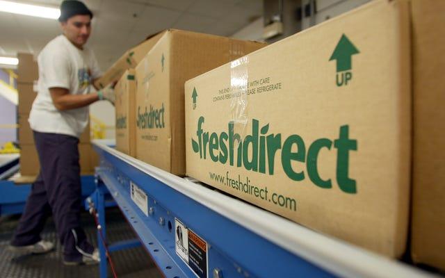 Amazon.com, FreshDirect untuk Menerima Stempel Makanan untuk Belanja Grosir Online
