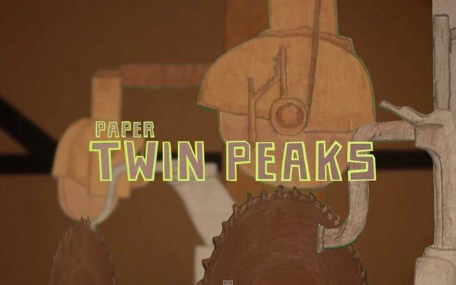 Der Vorspann von Twin Peaks wird nur gruseliger, wenn er mit Papier neu gemacht wird