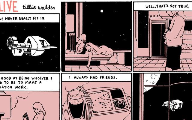 この短いコミックでは、技術者が宇宙での孤独の喜びを学びます
