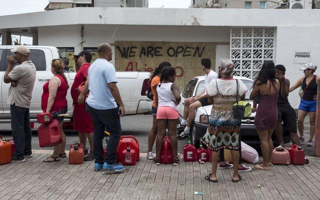 プエルトリコで急成長している人道的危機