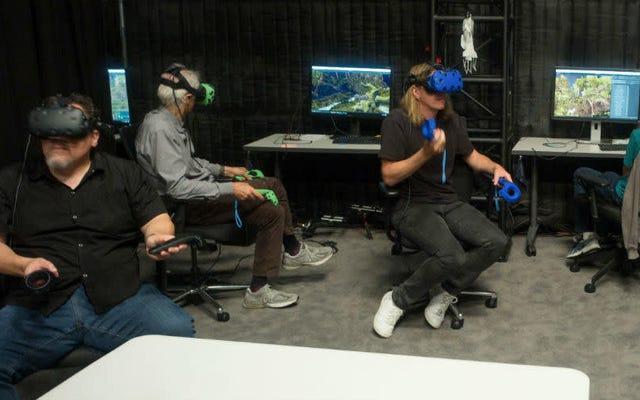 The Lion King 'Set' เป็นชุดหูฟัง VR จำนวนมากในโกดังขนาดยักษ์