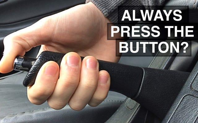 ทำไมถึงดึงเบรกมือโดยไม่ต้องกดปุ่ม