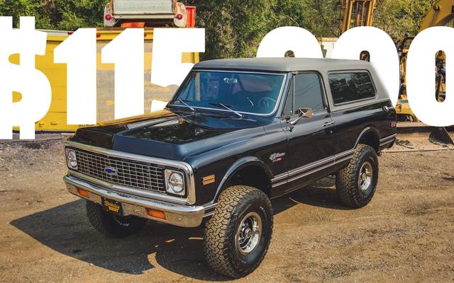 Una Chevy Blazer del 1972 appena venduta per $ 115.000 su un trailer, quindi spero che non ti perderai le cose che hanno senso