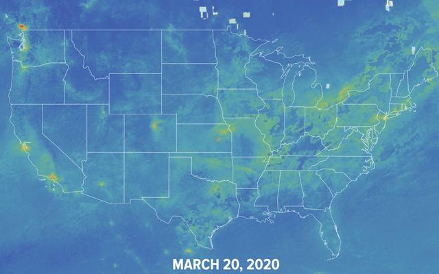 コロナウイルスは世界の大気汚染を削減しました。このインタラクティブマップはその方法を示しています。