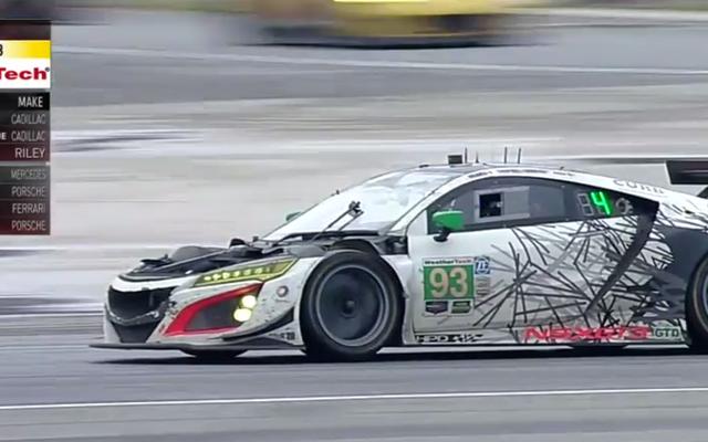 Przejście na emeryturę jednej Acury NSX w ostatnich chwilach wyścigu sprawiło, że zakończenie było szalone