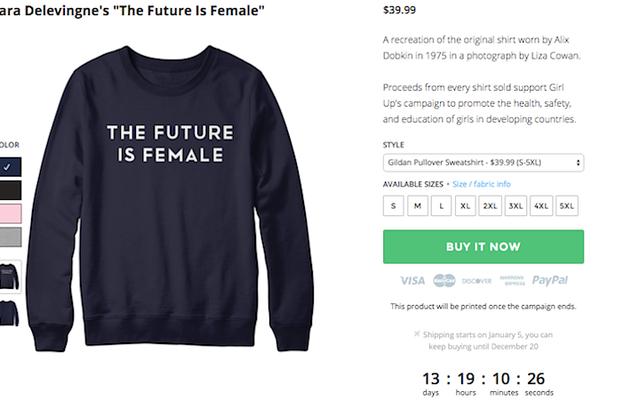 Cara Delevingne ha strappato un modello di t-shirt femminista vintage?