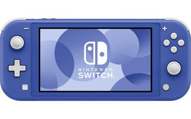Nintendo dévoile le nouveau Blue Switch Lite, qui pourrait aussi être violet