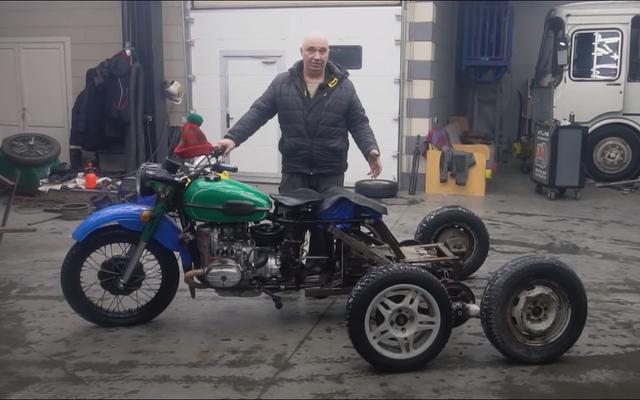 I russi costruiscono un ATV a cinque ruote da un Ural