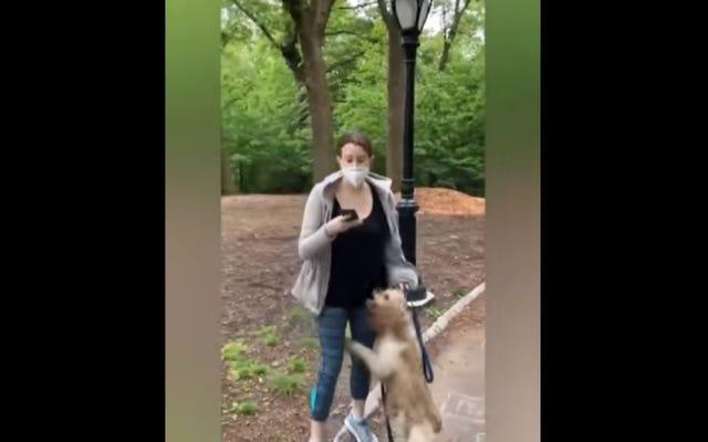 「私の命を脅かすアフリカ系アメリカ人の男がいる」:カレンは黒人男性に犬をひもでつなぐように頼んだことで警察に通報する[更新]