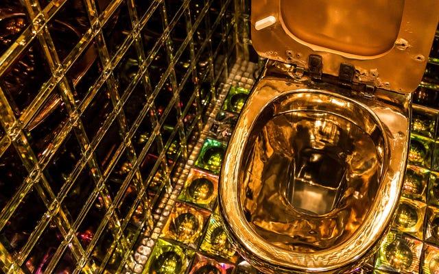 ส่องแสงที่ยอดเยี่ยมด้วยคอลเลกชันห้องน้ำ kickass ที่ดูเหมือนปกอัลบั้ม vaporwave