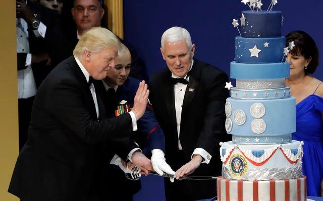 ドナルド・トランプの就任式ケーキも盗用されました