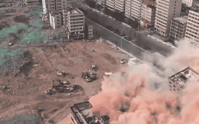 30秒で36の建物がダイナマイトされました:これが中国の都市の郊外の徹底的な清掃が終了する方法です