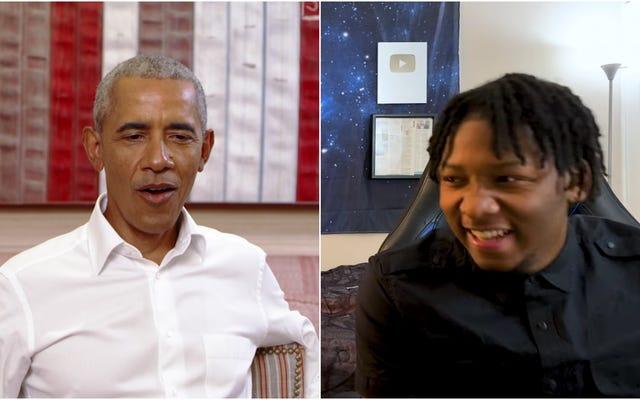 オバマ氏は、「彼らがA-Changinである時」についてのチャット中にバイラルYouTuberを驚かせます