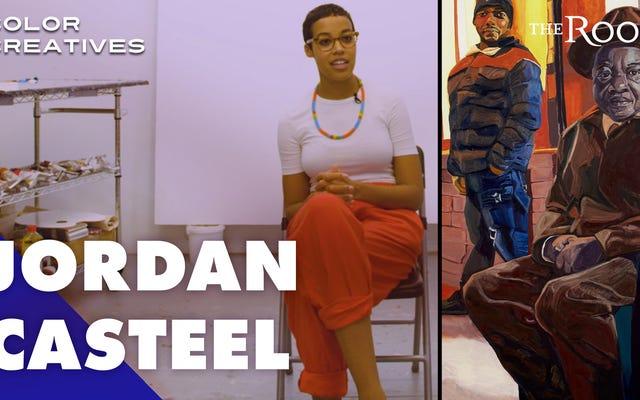 アートの世界で強力な人物として見られ、尊敬される黒人男性を描く