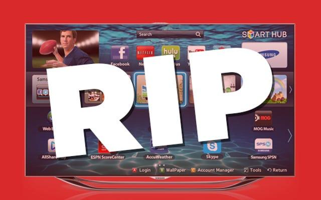 Telewizor 3D jest martwy. Miejmy nadzieję, że Smart TV będzie następny.