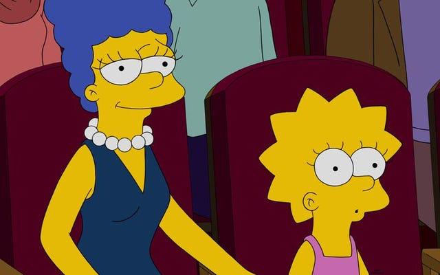 マージとリサはシンプソンズでそれを抱きしめます