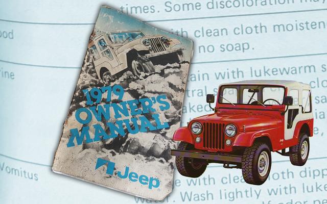 Dưới đây là các khuyến nghị chính thức năm 1979 của Jeep để làm sạch 'Nôn mửa,' Nước tiểu và các vết bẩn khác
