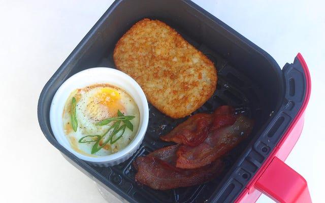 あなたのエアフライヤーで1つの完全な朝食を作ります