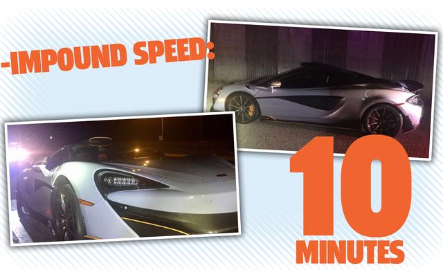 Un homme possède McLaren pendant 10 minutes avant de se faire saisir