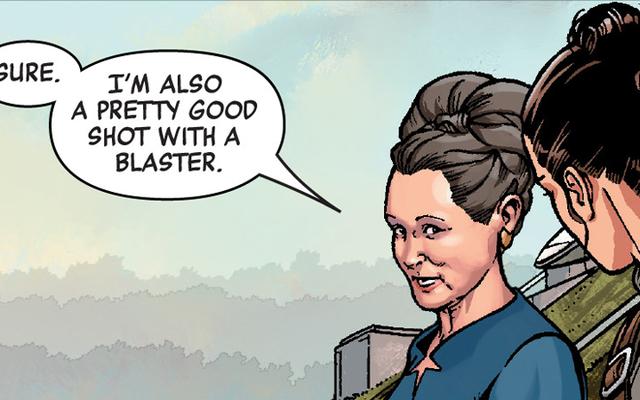 レイアオーガナの秘密兵器は今週のスターウォーズコミックの女性を結びつけるものです