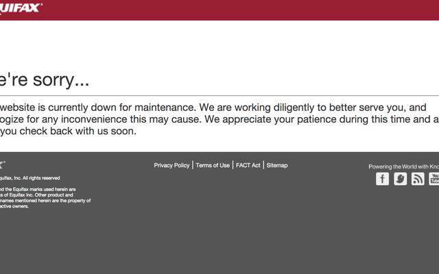Equifax met la page Web qui aurait mis hors ligne un adware [mis à jour]