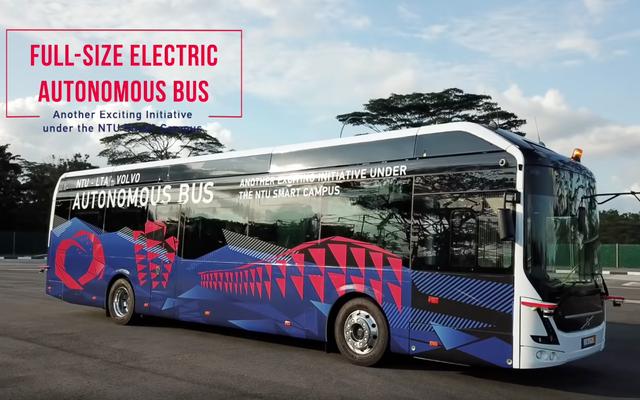 Pruebas de autobuses autónomos de Volvo en Singapur