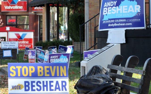 Un démocrate semble remporter la course au gouverneur du Kentucky après que le républicain sortant a doublé son avortement