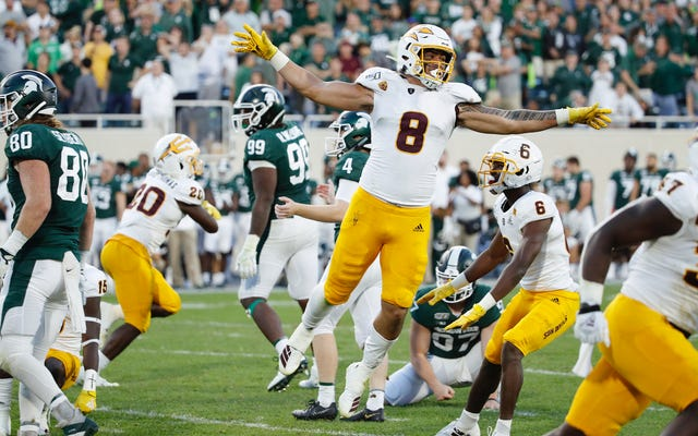 Pac-12は、アリゾナ州立大学のミシガン州立大学の動揺で、当局が最後のプレーで重大な罰則を逃したことを認めています