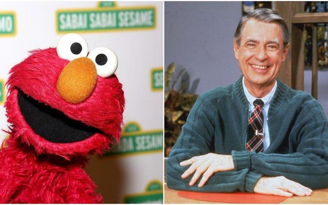 Mengapa tidak memukul perut Anda sendiri dengan foto Elmo yang memandang sedih sweter tua Tuan Rogers?