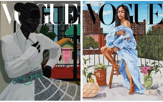 ヴォーグは黒人アーティストのケリー・ジェームズ・マーシャルとジョーダン・キャスティールに歴史を描くよう依頼する-9月の表紙を作る