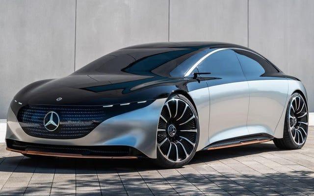 Electric 2022 Mercedez-Benz EQS Sedan zgłasza roszczenia w zakresie 478 mil
