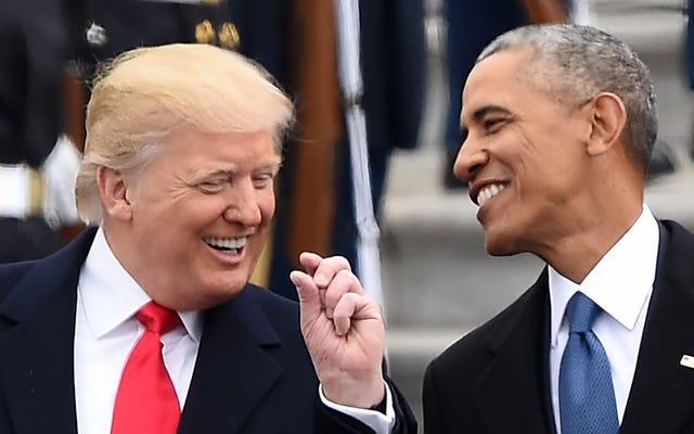 伝えられるところによると、オバマはトランプについてのコメディシリーズを制作しています。悲しいことに、「安全でない」というタイトルはすでに取られています