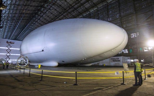 Airlander 10, prototipo de aeronave en forma de trasero y la aeronave más larga del mundo, se retirará
