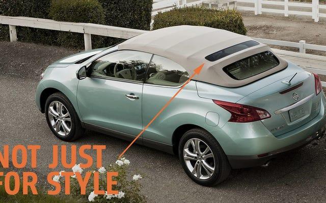 นี่คือเหตุผลที่ Nissan Murano Crosscabriolet มีหน้าต่างด้านหลังที่แปลกประหลาด