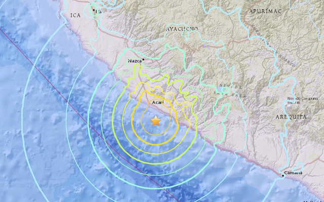 マグニチュード7.1地震ストライキペルー
