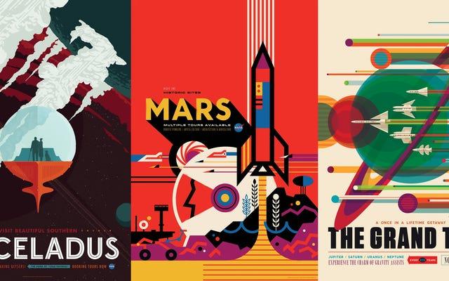 NASAの新しい宇宙観光ポスターは純粋な芸術とサイエンスフィクションです