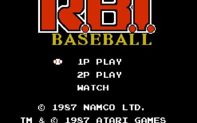 Cuộn cách ly trò chơi điện tử Retro cuộn vào. Tiếp theo đến Bat? Bóng chày NES RBI