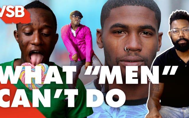 Obejrzyj: Lista wszystkich rzeczy, których nie mogą zrobić zwykli mężczyźni, ponieważ jest to `` podejrzane '' (według Wiz Khalifa i wielu innych)