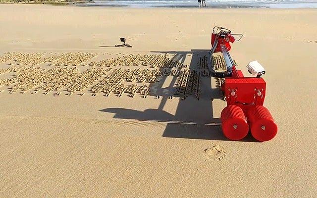 この自動サンドプリンターは、ビーチでのプロポーズでInstagramフィードを氾濫させる準備ができています