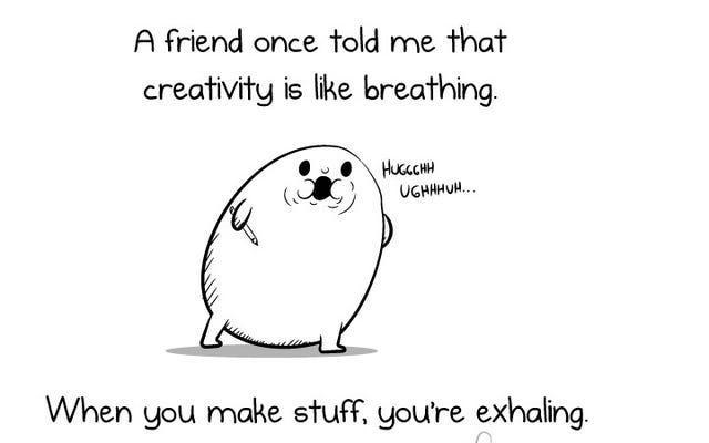 """""""La créativité est comme respirer"""""""